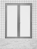 White metal door Royalty Free Stock Images