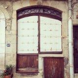 White Metal door. Shuttered door in the Ardeche Stock Images