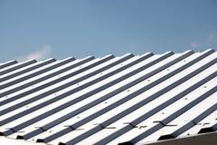 White metal hangar roof Stock Image