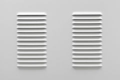 White metal industrial panel with ventilation Stock Photo