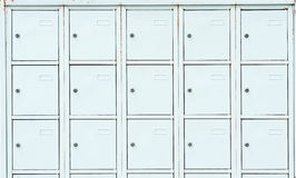White metal luggage boxes Royalty Free Stock Photography