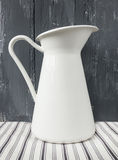 White metal milk pitcher Stock Photography