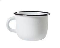 White metal mug Stock Image