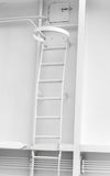 White metal naval ladder Stock Photography