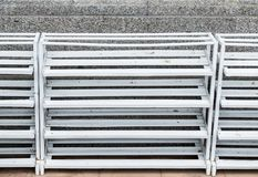 White metal rack for keep the shoes stock photography