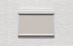 White metal roller door shutter Stock Photos