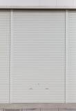 White metal roller door shutter background Stock Photos