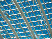White Metal roof with blue Royalty Free Stock Images