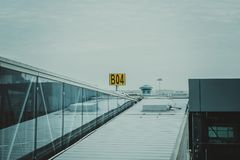 White Metal Roof Under White Sky Royalty Free Stock Images