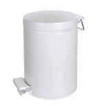 White Metal rubbish bin Royalty Free Stock Photography