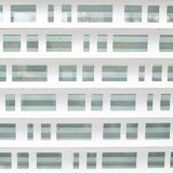 White metal shopwindow blind's fragment Royalty Free Stock Images
