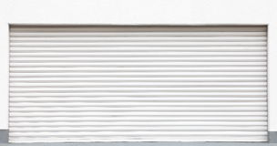 White metal shutters Royalty Free Stock Photography