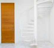 White metal spiral staircase Royalty Free Stock Image