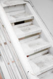White metal staircase Royalty Free Stock Images