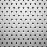 White metal texture with holes Stock Photography