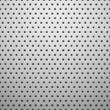 White metal texture with holes Stock Image
