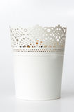White metal vase Royalty Free Stock Photography