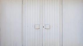 White metallic garage double door Stock Images