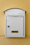 White metallic mailbox Royalty Free Stock Image