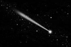 White meteor in the sky Stock Photos
