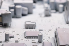 White microelectronics background Stock Image