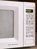 White Microwave oven partial view Stock Photography