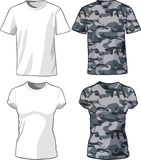 White and Military Shirts template. Vector Stock Photography