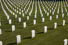 White Military Tombstones Stock Photos