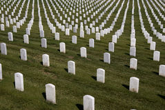 White Military Tombstones Royalty Free Stock Photography