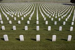 White Military Tombstones Stock Image