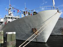 White Military War Ship Stock Photography
