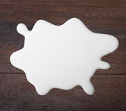 White milk drop Stock Photography