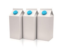 White milk or juice carton boxes Stock Images