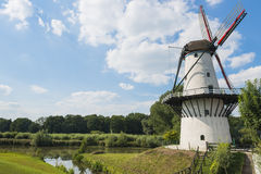 White Mill. 'De Vlinder' in Deil, the Netherlands Royalty Free Stock Image