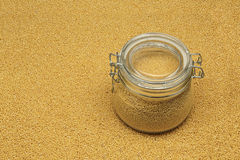White millet in a glass jar Stock Photo
