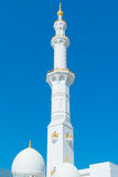 White Minaret with Gold Details Stock Photos