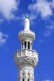 White minaret of Muslim masjed Royalty Free Stock Image