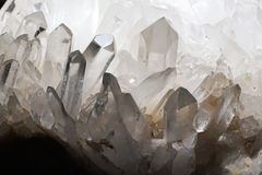 White mineral crystal texture. As nice natural background Stock Photos