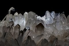 White mineral crystal texture. As nice natural background Royalty Free Stock Photo