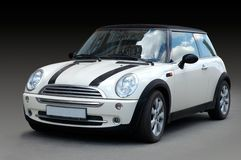 White mini car Royalty Free Stock Photography