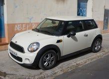 White Mini Cooper Car Royalty Free Stock Photo