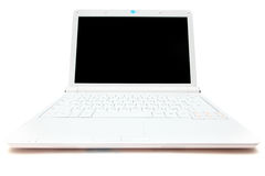 White mini laptop Royalty Free Stock Image
