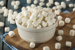 White Mini Marshmallows in a Bowl Royalty Free Stock Photography