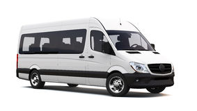 White minibus Royalty Free Stock Photo