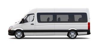 White minibus - side view Stock Photos