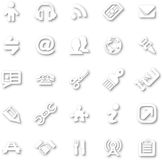 White minimalist icon set Stock Photos