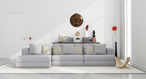 White minimalist living room Royalty Free Stock Images