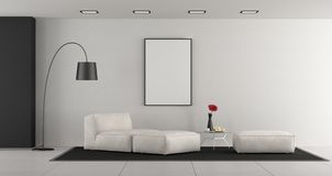 White minimalist living room royalty free illustration