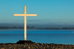 White Mist Cross Waters Royalty Free Stock Photography