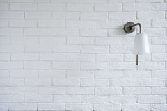 White Misty Brick Wall Background Or Texture With Turn Off Bra Stock Photography